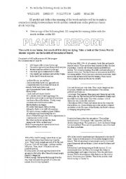 English Worksheet: Recycling Project