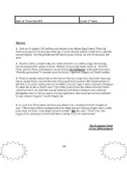 English Worksheet: ُEnd of Term Test nb3 for the 1st form