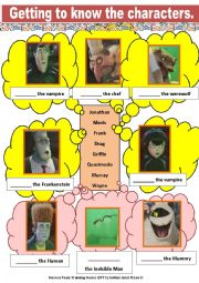 English Worksheet: Movie Lesson Activity (6 PAGES) Hotel Transylvania includes Cut & Paste, Music, Poem Recital and many more.