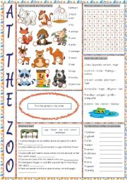At the Zoo (Vocabulary Exercises)