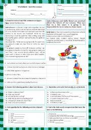 English Worksheet: worksheet- Save the oceans (11.06.13)