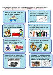 English Worksheet: GEPT ORAL CARDS-7