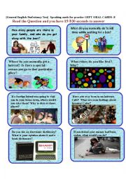 English Worksheet: GEPT ORAL CARDS-8