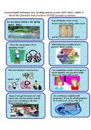 English Worksheet: GEPT ORAL CARDS-9