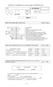 English Worksheet: Adults and Adolescents test 5th year