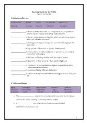English Worksheet: ETS Essential Guide for the TOEFL Vocabulary Day 21-22