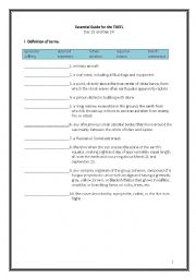 English Worksheet: ETS Essential Guide for the TOEFL Vocabulary Day 23-24