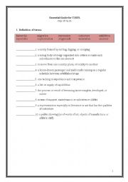 English Worksheet: ETS Essential Guide for the TOEFL Vocabulary Day 25-26