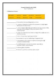 English Worksheet: ETS Essential Guide for the TOEFL Vocabulary Day 27-28