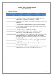 TOEFL worksheets