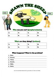 English worksheet: Shawn the Sheep Episodes Review