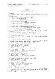 English Worksheet: OXFORD�S HEROES 1 Final test