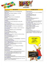 English Worksheet: Don´t worry. Be happy.