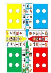 English Worksheet: Revision Bugs World 1, 2 - Ludo Game