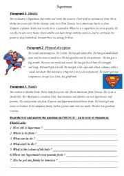 English Worksheet: Superhero project work