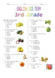 3rd Grade Mid Term