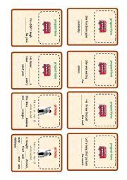 English Worksheet: Revision cards