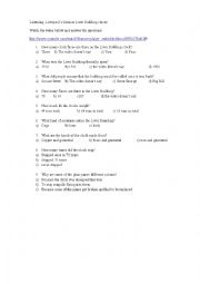 English Worksheet: Liverpool�s famous Liver Building clocks