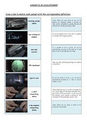English Worksheet: Gadgets in Goldfinger