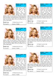English Worksheet: Song of Mariah Carey