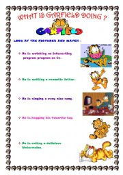 What is Garfield doing? ( 3 pages )