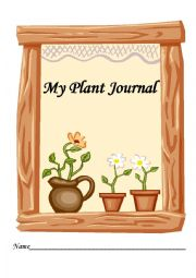 English Worksheet: Plant Journal