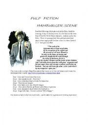 English Worksheet: Pulp Fiction the Hamburger Scene