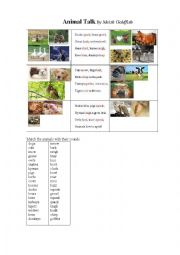 ANIMAL TALK a poem + an exercise (animal sounds)