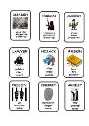 English Worksheet: Crime Taboo 2/2