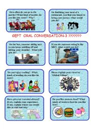 English Worksheet: GEPT ORAL CARDS-3