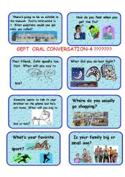 English Worksheet: GEPT ORAL CARDS-4