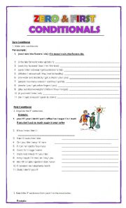 English Worksheet: Zero and First conditionals