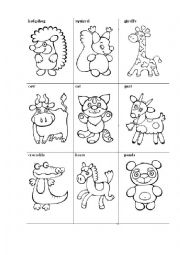 English Worksheet: ANIMAL FLASHCARDS + 5 Games to play with them