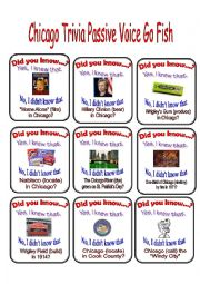 English Worksheet: Chicago Passive Voice Go Fish