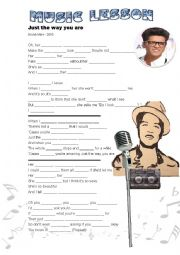 English worksheet: Music - Just the Way You Are