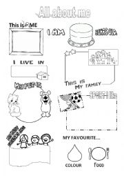 English Worksheet: All about me - early years