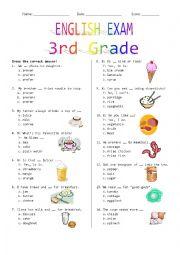 3rd Grade Final Exam