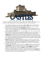 English worksheet: Castle Worksheet