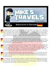 English worksheet: Tavel Story - Germany