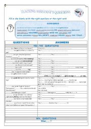 English Worksheet: Teaching assistant�s questions