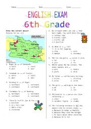 English Worksheet: 6th Grade Final Exam