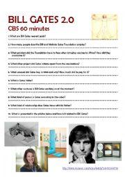 Bill Gates - video worksheet