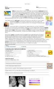 English Worksheet: New headway intermediate 4th edition unit 9 Exam