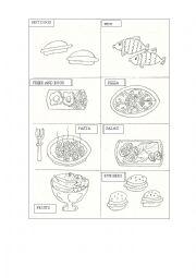 English Worksheet:  Junk Food vs. Healthy Food