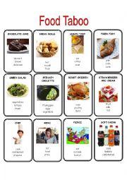 English Worksheet: Food Taboo 1/2