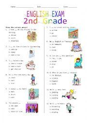 2nd Grade Final Exam #1
