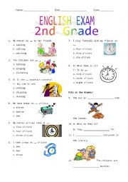 English Worksheet: 2nd Grade Final Exam #2