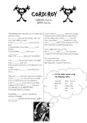 English Worksheet: Courduroy Song by Pearl Jam