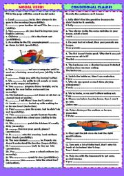 English Worksheet: Review 5: modal verbs & conditional clauses (+ key)