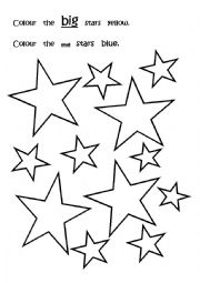 English Worksheet: Big and Small colouring